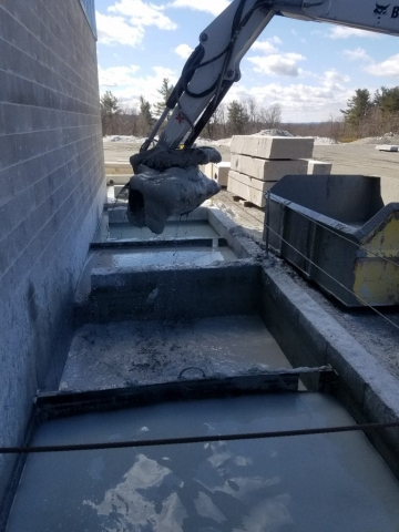 Settling tank being dug