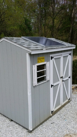 solar shed outside